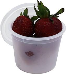 Vito's Famous Deli Container with Lid, 4 Ounce  | Tight Seal