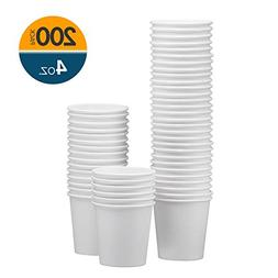 NYHI 200-Pack 4oz White Paper Disposable Cups – Hot/Cold B